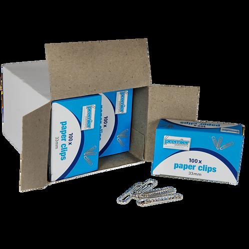 Premier Paper Clips Silver 33 MM - Box 100