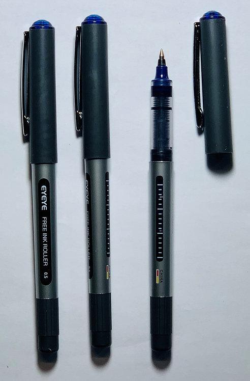 Eyeye Roller Ball Pen, Blue, 0.5mm - Box 12