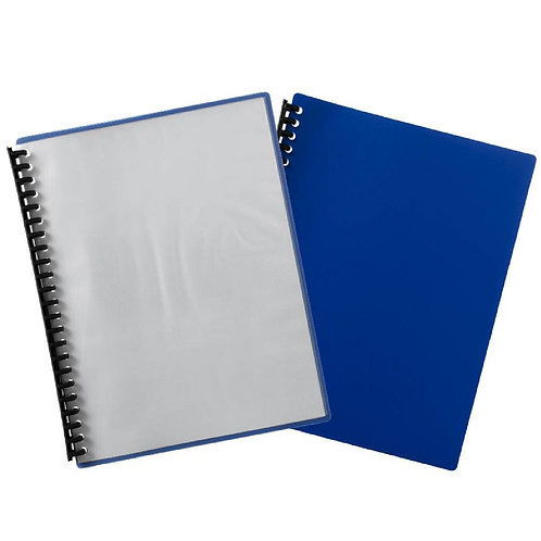 Display Book Clear Cover Blue