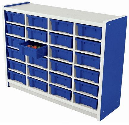 Kids Smart Storage Unit 24 Compartment Blue