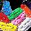 Thumbnail: Premier Vinyl Coated Paper Clips Assorted Colours 33 MM - Box 100