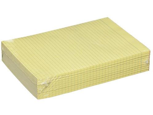 Premier Writing Pad A4 Ruled Bond 60gsm Yellow 100 Sheets Box 10