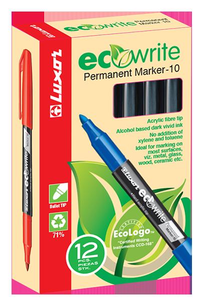 Luxor Eco Permanent Marker Fine, Green - Box 12