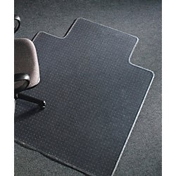 Chairmat Clear Low Pile Keyhole Polycarbonate - 1140x1350 mm