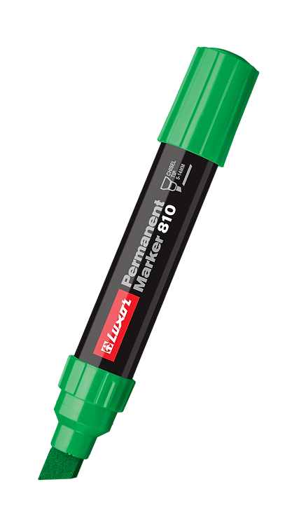 Luxor Jumbo Permanent Marker 810, Green - Box 6