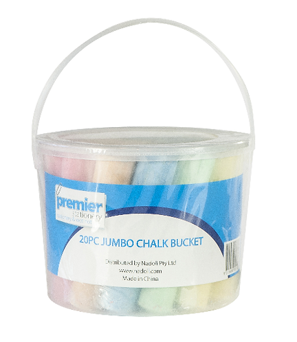 Premier Jumbo Chalk Bucket 20 Pcs