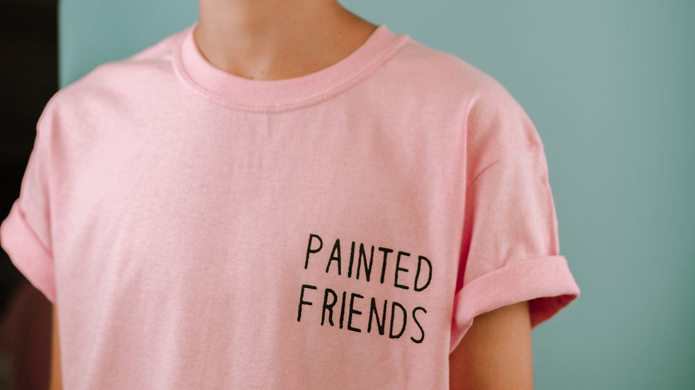 Painted Friends Plain T Shirt