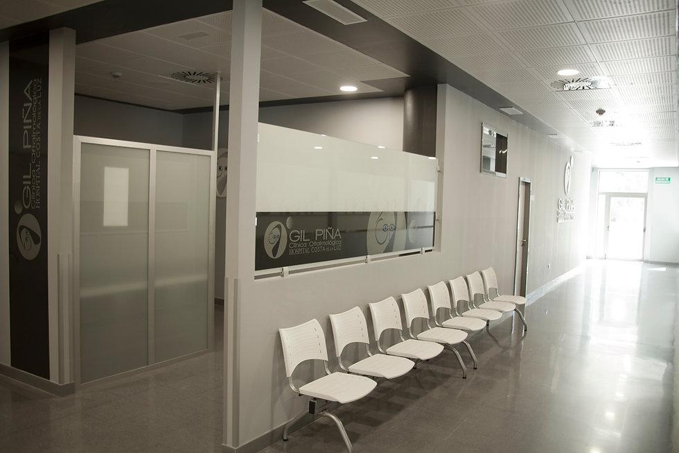 Sala de espera Clínica oftalmológica Gil Piña