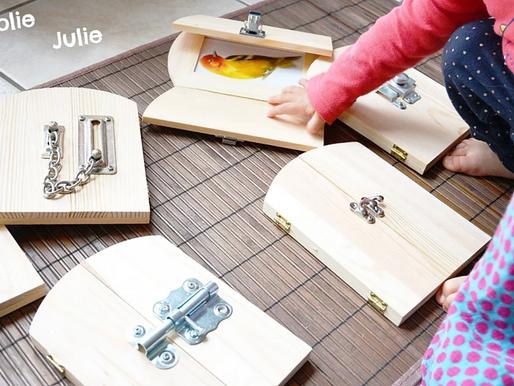 DIY : Nos cadres à serrures Montessori