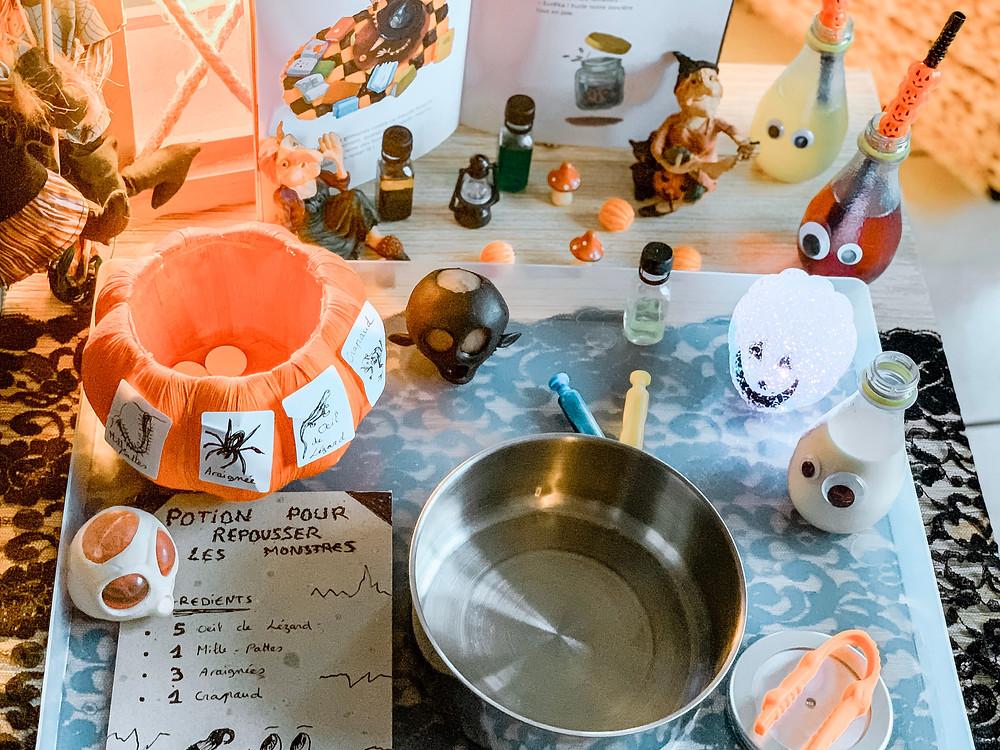 Fabriquer une potion magique pour repousser les monstres !! - Activité enfant pour Halloween