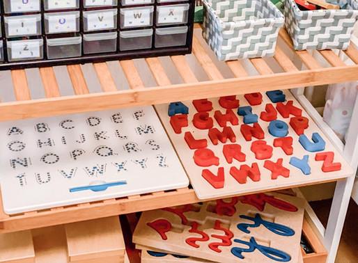 Notre matériel Montessori pour la lecture/écriture