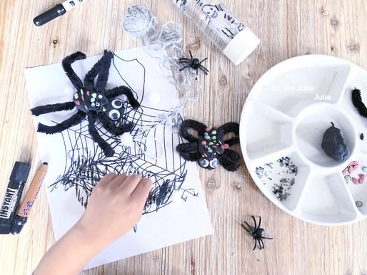 Une araignée sur sa toile