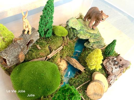 Plateau sensoriel : deux ours dans la forêt