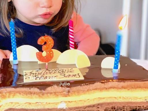 Son troisième anniversaire !