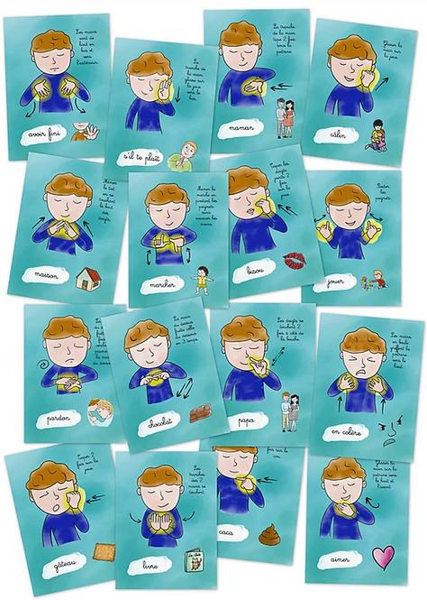 Mes p'tites cartes : La langue des signes avec un tout-petit