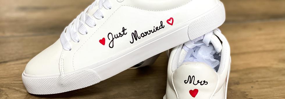 Adult custom weeding shoes