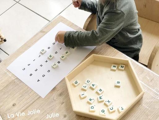 Manipuler les lettres de l'alphabet