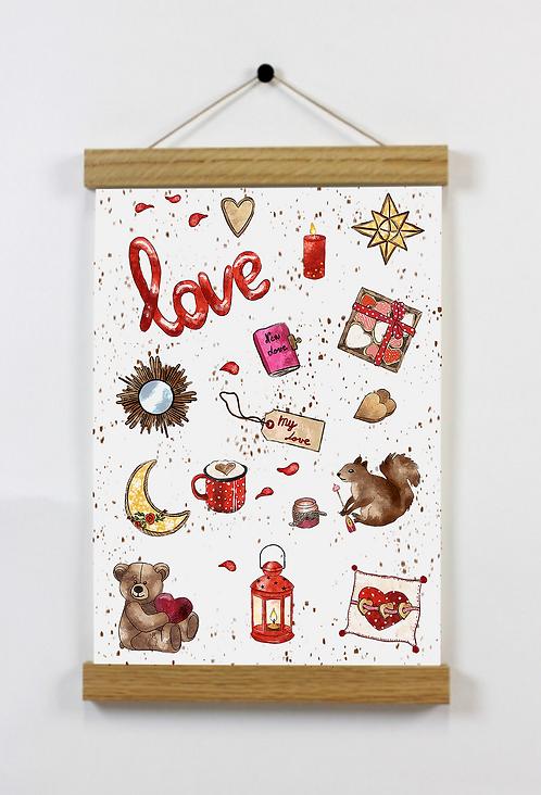 Affiche A5 - Valentine's Day
