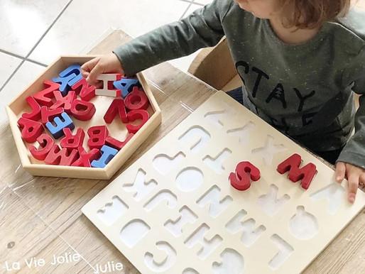 Puzzle alphabet façon Montessori