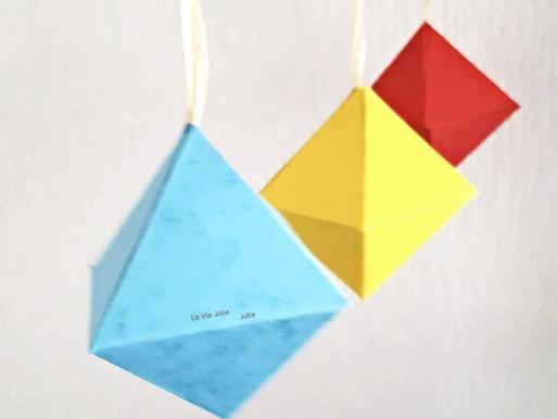 Mobile pour bébé : les octaèdres