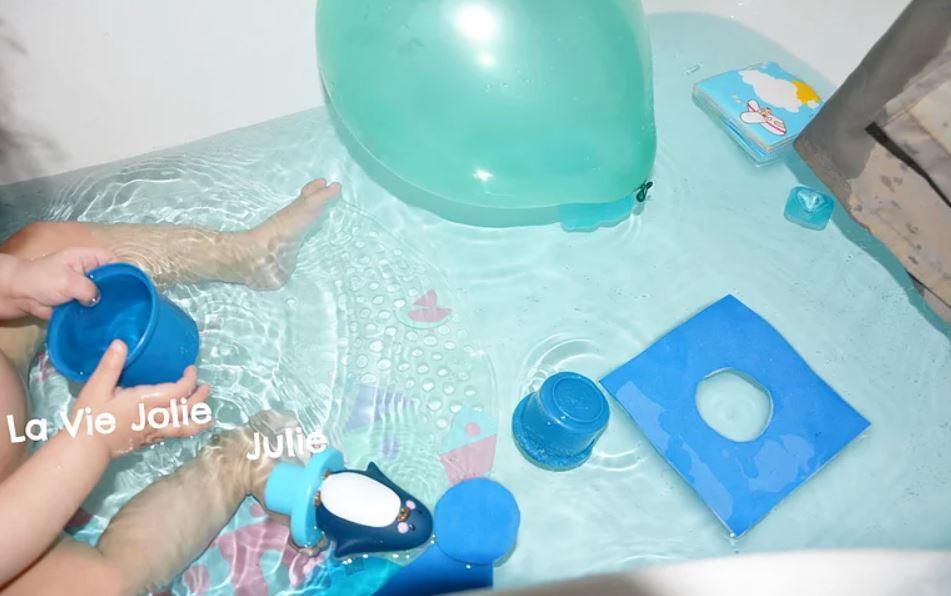 Le bain coloré !