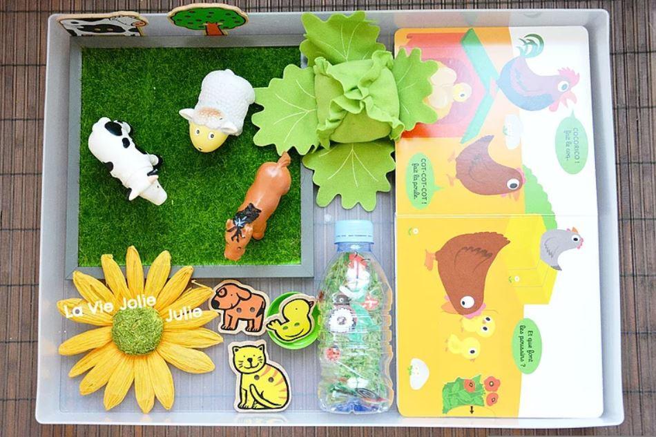 Plateau sensoriel : vive le printemps !