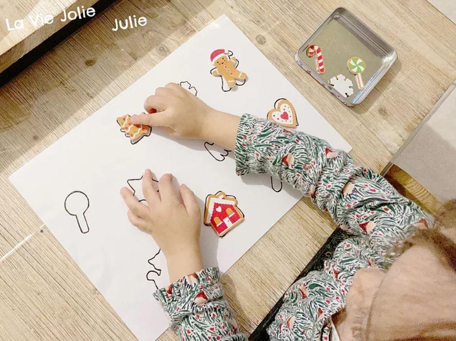 Reconnaître les silhouettes de Noël - Activités Montessori