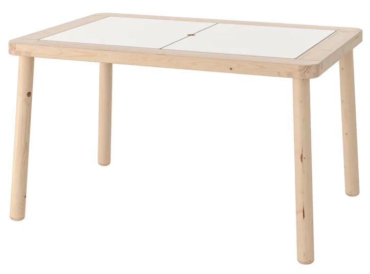 Table enfant Ikea avec bacs