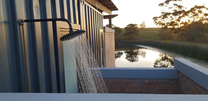 Eco Cabin 1 Outdoor shower