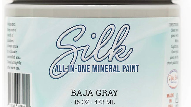Dixie Belle Paint Silk all-in-one mineral paint Baja Gray 16oz