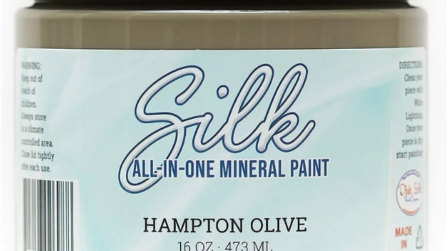 Dixie Belle Paint Silk all-in-one mineral paint Hampton Olive 16oz