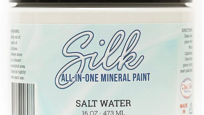 Dixie Belle Paint Silk all-in-one mineral paint Salt Water 16oz