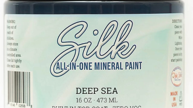 Dixie Belle Paint Silk all-in-one mineral paint Deep Sea 16oz