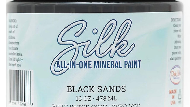 Dixie Belle Paint Silk all-in-one mineral paint Black Sands 16oz