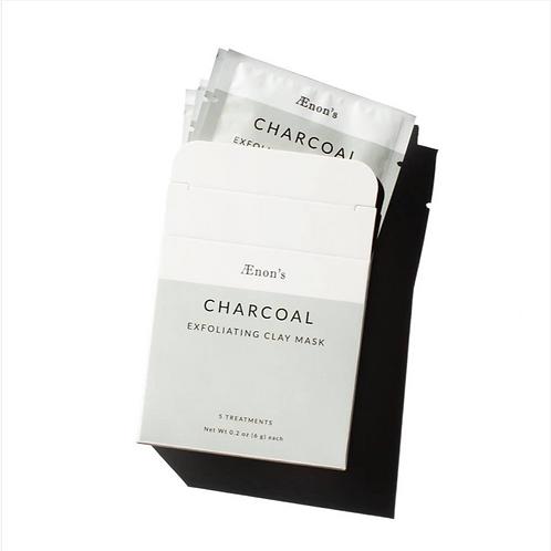 Ænon's Charcoal Exfoliating Clay Mask Box