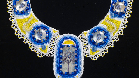 """""""A Tree By The Waters"""" Bead Embroidery Necklace"""