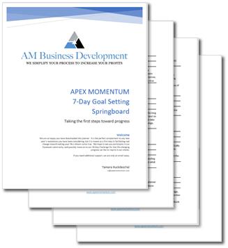 Apex Momentum 7-Day Goal-Setting Springboard