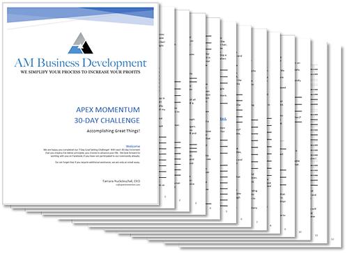 Apex Momentum 30-Day Goal-Setting Challenge