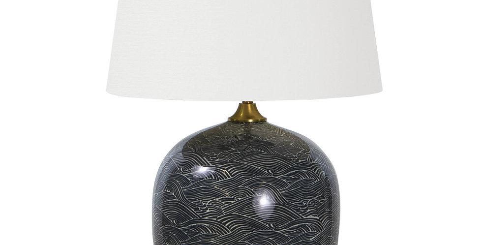 Ceramic Ebony Table Lamp