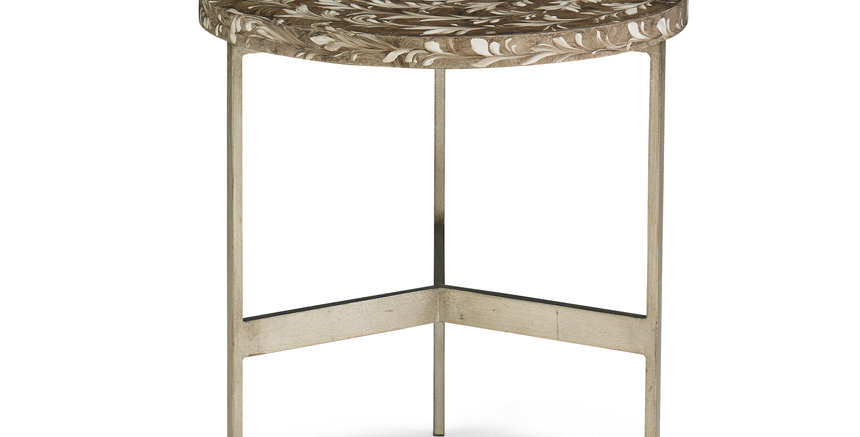 Platinum Leafed End Table