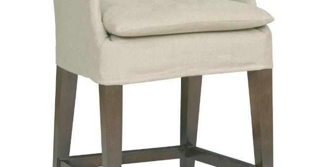 Slip-covered Counter Stool