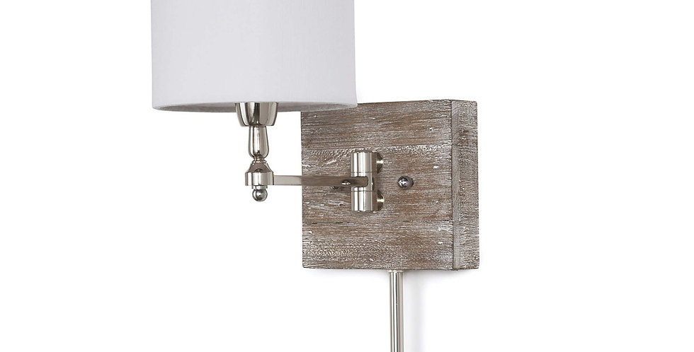 Distressed Wood Sconce