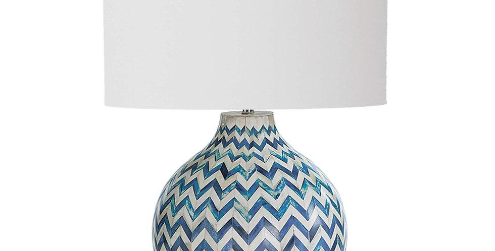 Chevron Bone Table Lamp