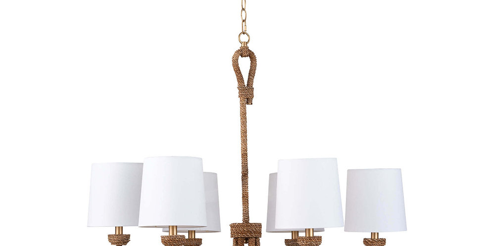 Natural Woven Small Chandelier