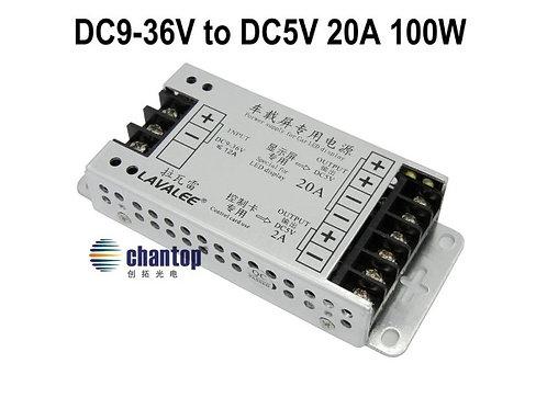 Блок питания  LV 05100 (конвертор ) DC9-36 to DC5V,  20A 100W