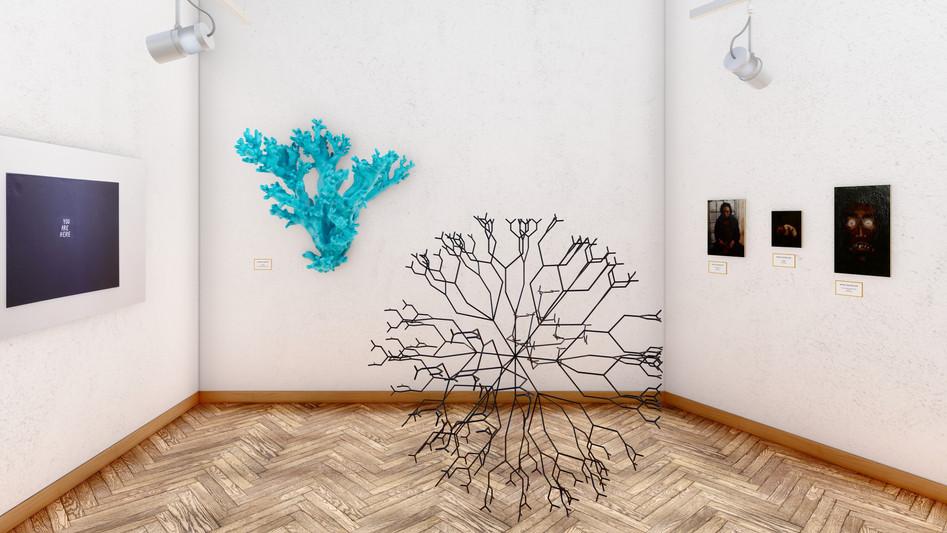 Antonio Barbieri - Corallo 60x32x68 Stampa 3D in argilla, smalto; - Matrix 265x265x165 Ferro, acciaio, vernice poliuretanica.