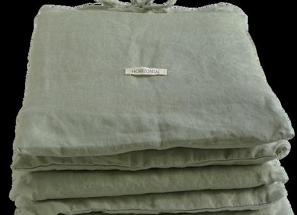Drap plat- Vert de gris