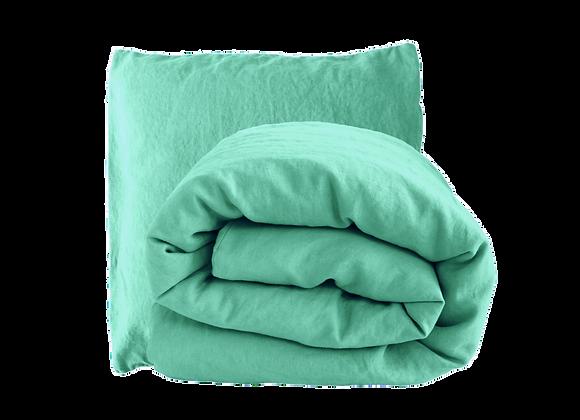 Housse de Couette 140x200 avec 1 Taie- Eau turquoise