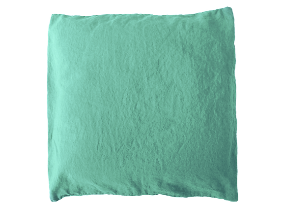 2 Taies 65x65 Eau turquoise