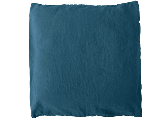 2 Taies 65x65 Bleu denim